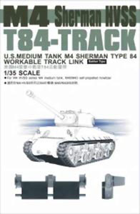 M4 Sherman HVSS T84 Workable Track Links, US Medium Tank Type 84