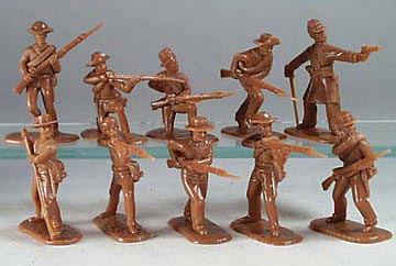 American Civil War Confederate Infantry in Butternut