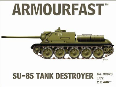 WWII Russian SU-85 Tank Destroyer