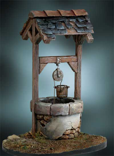 Rustic Well Display Base