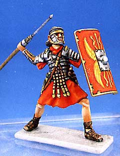 Roman Soldier Throwing Pilum
