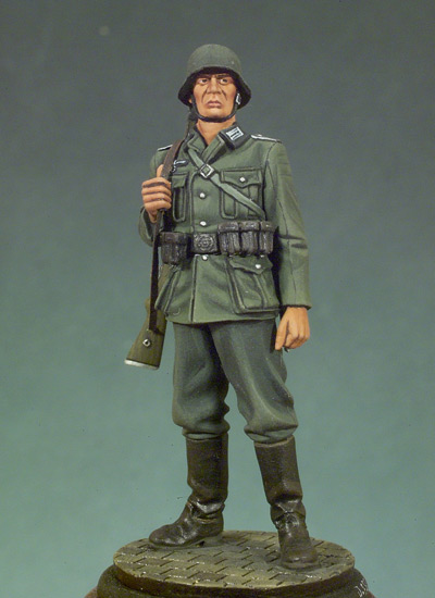 German Soldier with Rifle