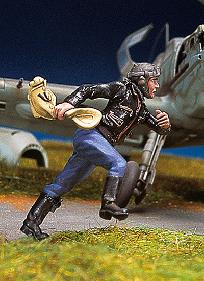 German Pilot Running #2