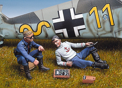 German Pilots Playing Chess