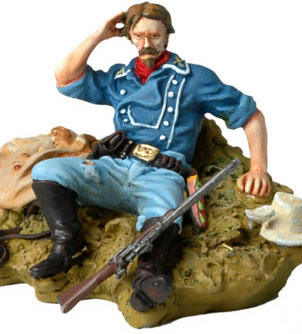 Custers Last Stand- Captain Tom Custer Seated on Ground - ONLY 1 AVAILABLE AT THIS PRICE