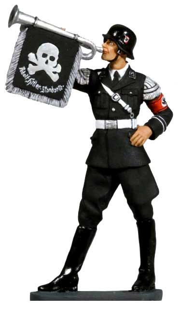 The Leibstandarte SS 1938: Trumpeter with Death Head Flag