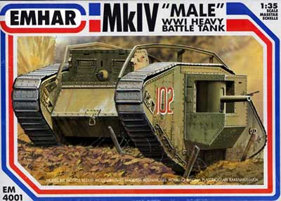 WWI British Male Mk. IV Tank