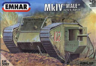 WWI Mk. IV Male British Tank