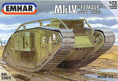 WWI Mk. IV Female British Tank