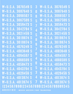 Late War US Registration Codes � Tanks & Tracked Vehicles (Stencil)
