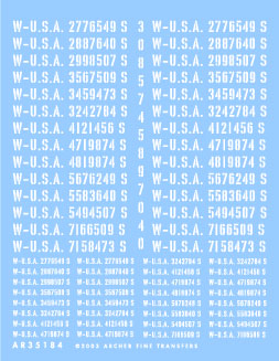 Late War US Registration Codes � Trucks & Ambulances (Stencil)
