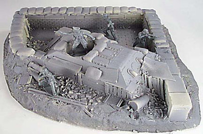 Defensive Position with Knocked Out T-34 Tank