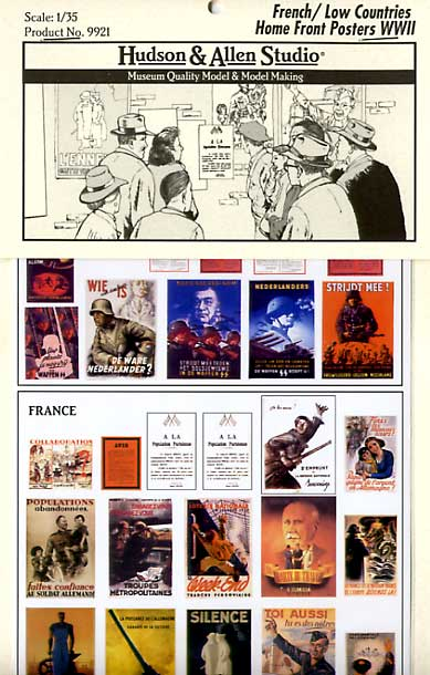 French/Low Countries Home Front Posters