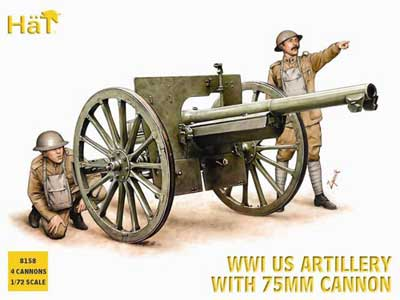 WWI US 75mm Gun with Crew