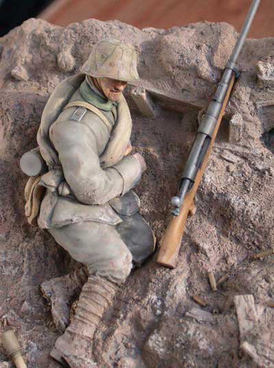 German Anti-Tank Gunner, Prussian 27th Res. Inf. Beaucamp, Cambria, Western Front 1918