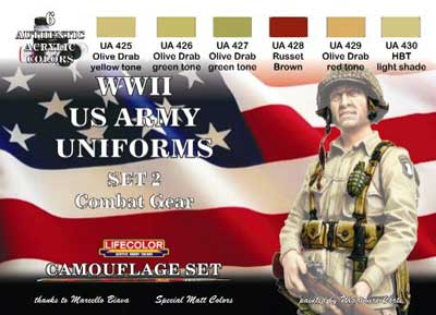 World War II US Uniforms Set #2 ' Camouflage and Combat Gear