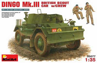 WWII British Dingo Mk. III Scout Car with Crew