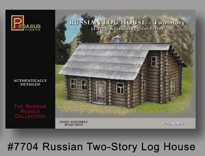 Russian Two Story Log House
