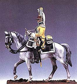 Mounted French Trumpeter, 19th Regiment of Dragoons 1807