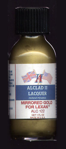 Mirrored Gold Lacquer for Lexan 1oz. Bottle