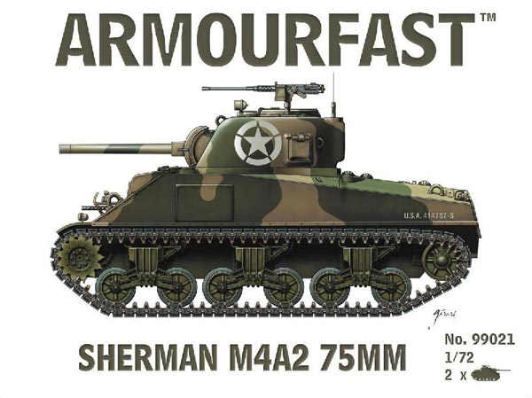 WWII US Sherman M4A2 75mm Tank (2)