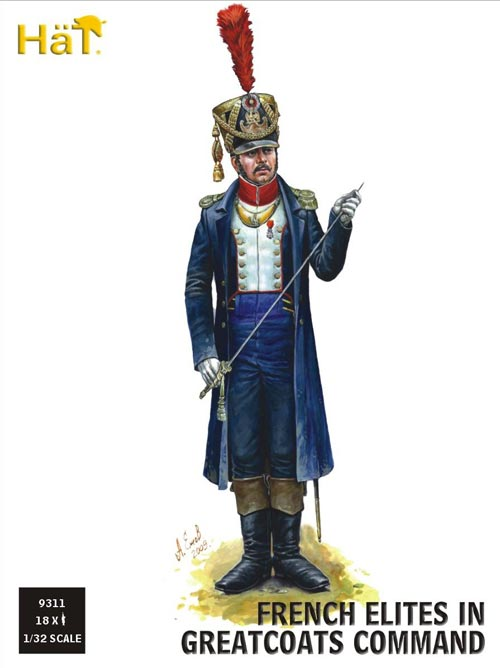 Napoleonic French Light Infantry/Elites in Greatcoats Command