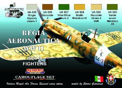 Camouflage Italian Regia Aeronautica WWII Fighters Set #1