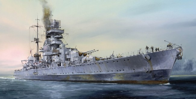 German Prinz Eugen Heavy Cruiser