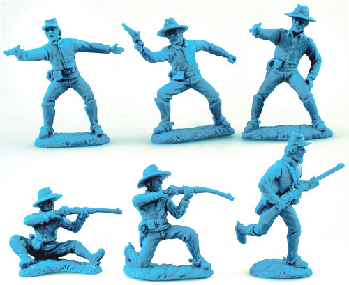Old West Dismounted US Cavalry in Lt. Blue