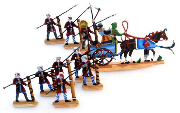 Ancient Greeks & Persians: Persian Spearmen and Command Chariot (10 pcs.)