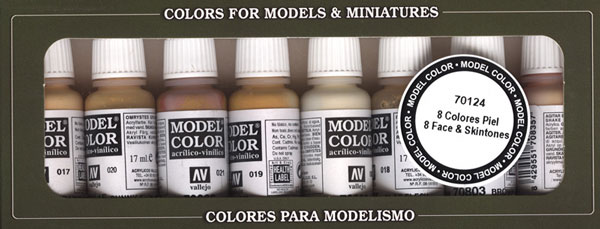 Vallejo Model Color - Face and Skin Colors Paint Set