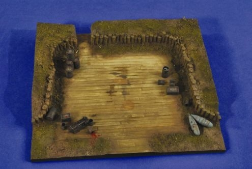 Luftwaffe Revetment Diorama Base with Accessories