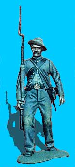 Confederate Advancing, Shoulder Arms