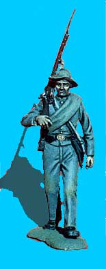 Confederate Marching, Rifle on Shoulder