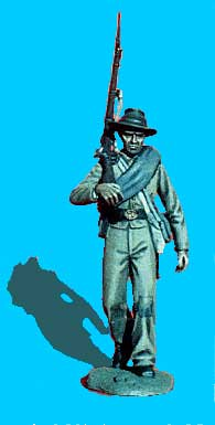 Confederate Walking, Rifle on Shoulder