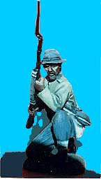 Confederate Kneeling, Rifle at Ready
