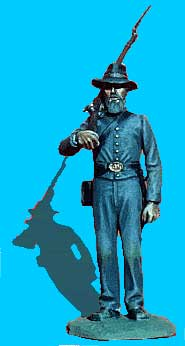 Confederate Standing at Attention, Rifle on Shoulder