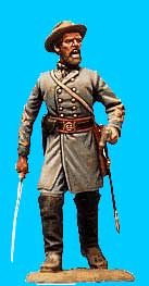Confederate Officer Advancing, Sword Drawn