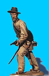 Confederate Officer Defending, Sword Drawn