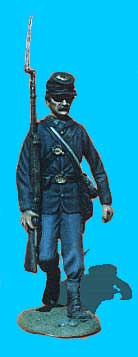 Union Infantry Walking, Shoulder Arms