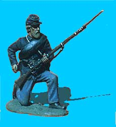 Union Infantry Kneeling, Reaching for Cartridge
