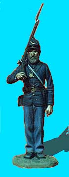 Union Infantry at Attention, Rifle Over Shoulder