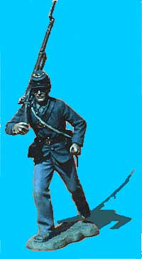 Union Infantry Running, Rifle Over Shoulder