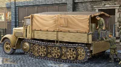 German SdKfz 7 8-Ton Halftrack (Late Version)