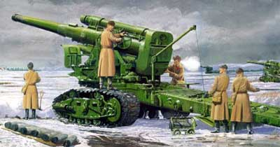 Soviet Army B4 Model 1931 203mm Howitzer Gun