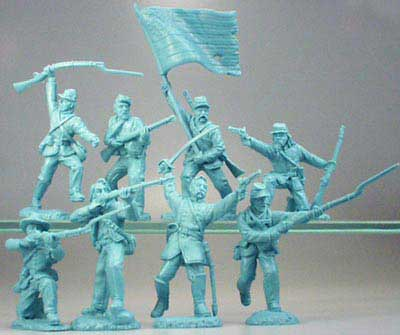 ACW Union Infantry Charging in Blue