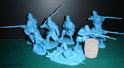 ACW Union Infantry in Greatcoats in Blue