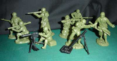 WWII U.S. Fire Support in OD Green