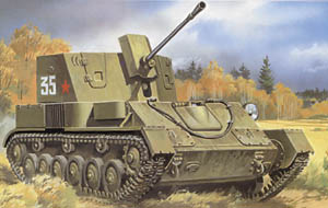 ZSU-37 Soviet Self-Propelled Anti-Aircraft Gun