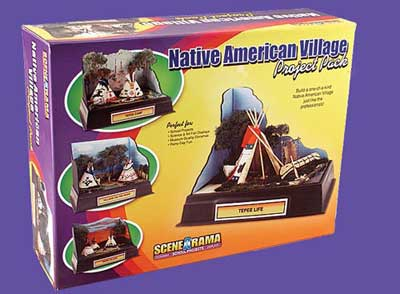 Scene-A-Rama - Project Pack - Native American Village